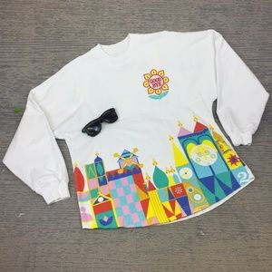 Diney Parks small world long sleeve sweatshirt